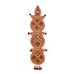 Kutch Mirror Artwork Kumbh 3 Piece Wall Hanging 128 By Pioneerpragati - (Product Code-PGT4WHG128)