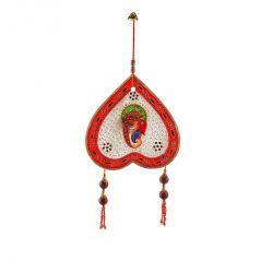 Pan Shape Decorative Marble Ganesha Wall Hanging 447 By Pioneerpragati - (Product Code-PGTHCF447)