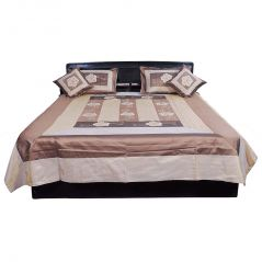 Pioneerpragati Traditional 5 Pc. Embroidery Silk Double Bed Cover 313-(Product Code-Pgtslk313)