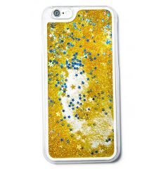 DDF Liquid Gold Glitter Filled Back Cover For Apple IPhone 6/6S (Product Code - LQDGD01)