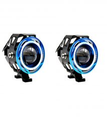 Capeshoppers 2x U11 Cree LED 15W Bike Fog Spot Light Lamp DOUBLE RING Projecter For Royal Bullet BULLET 500