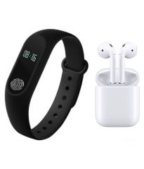 Combo of  iMi Band 2 Smart Band IP67 Fitness Tracker wristband   Dual Airpod