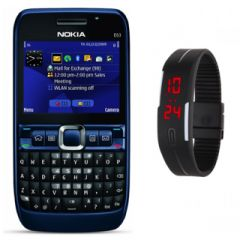 Nokia E63 With Free Led Digital Watch