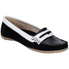 MAPPY White Black WOMEN Loafer - 1320-White Black