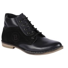 Bachini Half Ankle Boot For Men-(code-1529-black) - Winter Store