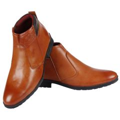 Bachini Half Ankle Boot For Men-(Code-1531-Tan)