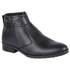 Bachini Half Ankle Boot For Men-(Code-1584-Black)