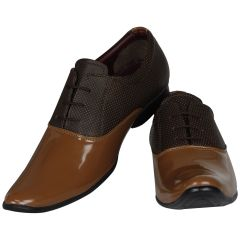 Tan Formal Shoes For Men (code - 1638-tan) - Footwear