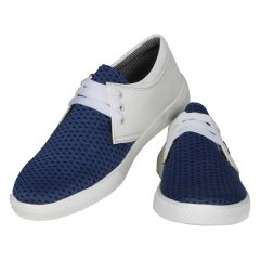White Blue Casual Shoes For Men (code - 1624-white Blue) - Footwear