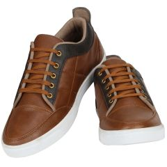 Tan Casual Sneakers For Men (code - 1644-tan) - Footwear