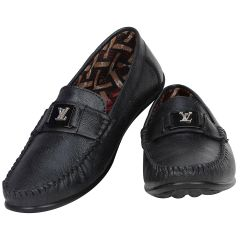 Black Formal Slip on for Men (Code - 1647-Black)