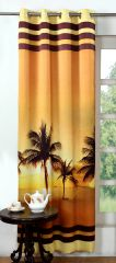Lushomes Digitally Printed Beach Polyester Blackout Curtains For Long Doors (Single Pc) - POBCNDGPDLD1001