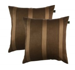 Lushomes Blackout Adorable Dark Brown Set Of 2 Cushion Covers (Size 20x20)_pobcclp2_1004