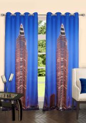 Lushomes Digitally Printed Frankfurt Polyster Door Curtains