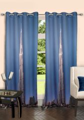 Lushomes Digitally Printed Khalifa Polyster Door Curtains