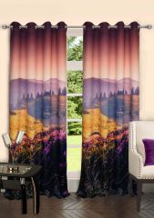 Lushomes Digitally Printed Landscape Polyster Door Curtains