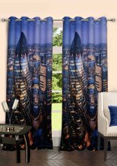 Lushomes Digitally Printed London Polyster Door Curtains