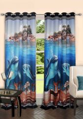 Lushomes Digitally Printed Marine Polyster Door Curtains
