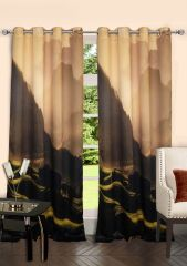 Lushomes Digitally Printed Mountain Polyster Door Curtains