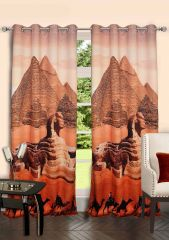 Lushomes Digitally Printed Pyramid Polyster Door Curtains