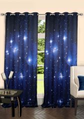 Lushomes Digitally Printed Stars Polyster Door Curtains