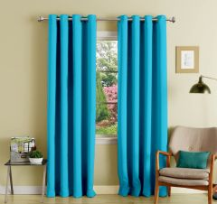 Lushomes Tac Polyester Blackout Curtains With 8 Eyelets For Long Door