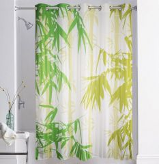 Shower curtains - Lushomes Digitally Printed Bamboo Shower Curtain with 10 Eyelets
