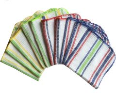 Lushomes Yarn Dyed Multi Purpose Cleaning Cloth (Pack Of 10)- YNCL1001