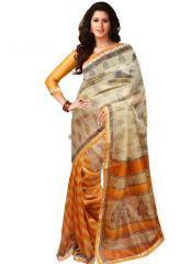 Wama Designer Sarees - Wama Fashion Multi color bhagalpuri printed designer saree- TZ_Amisha_net
