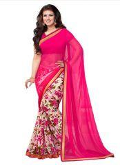 Wama Fashion aayesha Chiffon printed designer Multi flower  saree