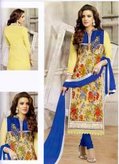 Wama Dress Materials (Singles) - wama fashion net fabric salwar suit with duppata