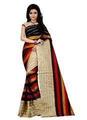 Silk Sarees - Wama tussar silk red saree with blouse(TZ_Amana)