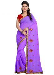 Wama Fashion purple  color Georgette sari(TZ_Champakli)