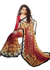 Wama Fashion  Chiffon printed designer saree with attaractive lace borde