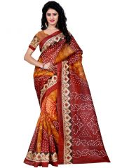 Wama fashion bhagalpuri cotton sari with blouse(TZ_Jivan_Maroon)