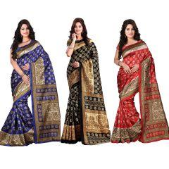 wama fashion bhagalpuri cotton sari with blouse (TZ_Combo_kasturi)