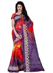 Wama fashion bhagalpuri cotton sari with blouse(TZ_life)