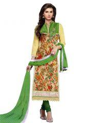 Wama Dress Materials (Singles) - wama fashion net fabric salwar suit  with duppata(TZ_Mumtaz_Green)