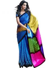wama fashion jaquard Multi color printed designer saree