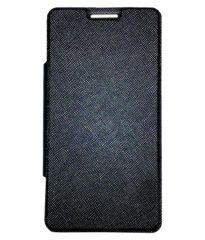 Tbz Premium Flip Cover Case For Micromax Canvas Nitro 2 E311 -Black