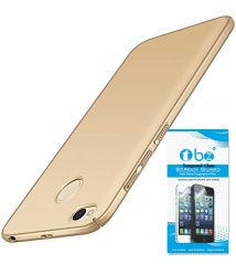 TBZ Sides Protection Hard Back Case Cover for Xiaomi Redmi 4 - Golden