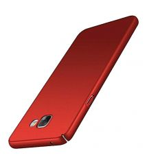 TBZ Sides Protection Hard Back Case Cover for Samsung Galaxy On Max  - Red