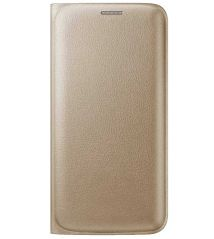 TBZ Premium Leather Wallet Flip Cover Case For Samsung Galaxy J7 -Golden