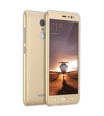 TBZ 360 Degree Protection Front & Back Case Cover for Xiaomi Redmi Note 3 - Gold