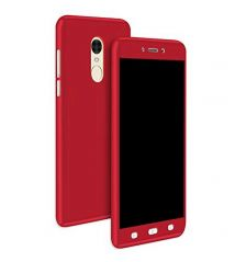 TBZ 360 Degree Protection Front & Back Case Cover for Vivo V7 Plus -Red