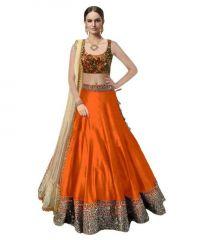 Astha Fashion Orange Banglore Silk Bridal Lehenga Choli 201-orange