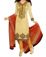 Vedant Vastram Beige Colour Poly Cotton Unstitched Printed Dress Matrial (code - Vvdm_senorita)