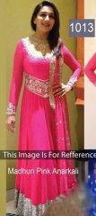 Stylelok Women's Clothing - Stylelok Pink Georgette Anarkali Suit _code_sl91432