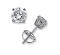 Sheetal Impex Certified 0.50 TCW Real Natural Diamonds 14Kt White Gold Stud Earring - E00131