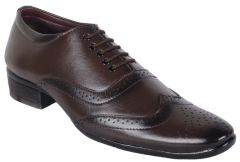 George Adam Mens Brown Designer Brouges Shoes - By Location